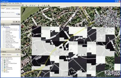 Klötzchen-Grafik in Google Earth